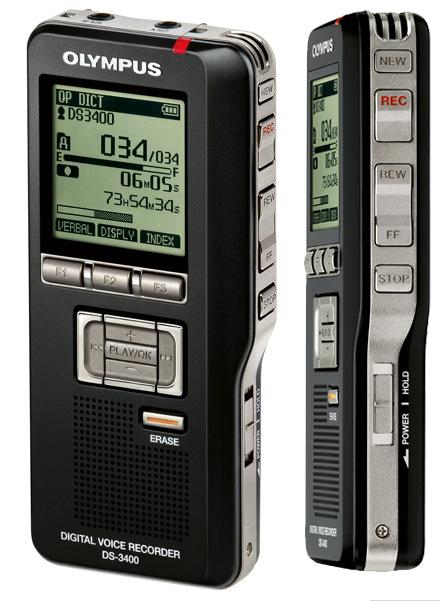 New Olympus DS-3400 Digital Dictaphone
