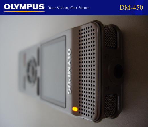 Olympus DM-450 Digital Voice Recorder - Available in Australia from Dictate Australia - www.dictate.com.au