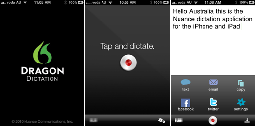 iphone app convert voice to text