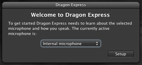 Dragon Express Mac App Store - Setup Mic For Voice Speech Recognition