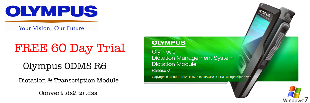 Download Free Trial Olympus ODMS R6 Dictation Transcription Module - Convert .ds2 to .dss for Free