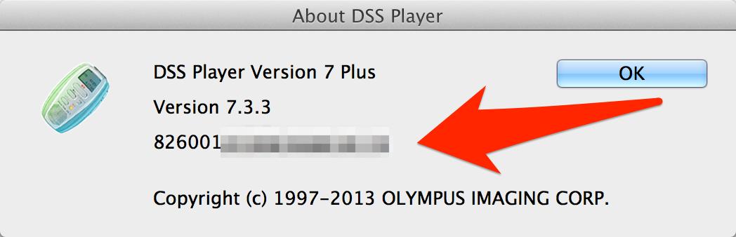 Olympus DSS Player Plus v7 Software Licence Key Mac