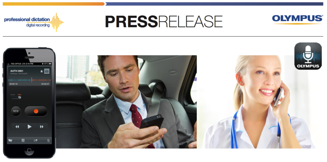 Olympus Australia Press Release Announce ODDS Mobile Dictation App