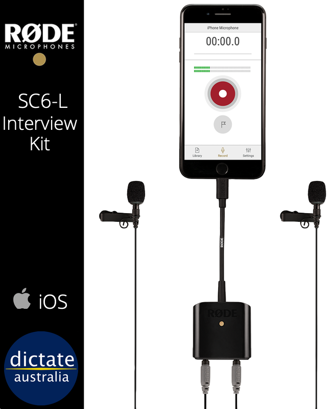 iOS Interview Microphone Kit SmartLav+ Rode eloger