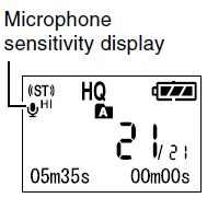 Olympus WS-210S Mic Sensitivity