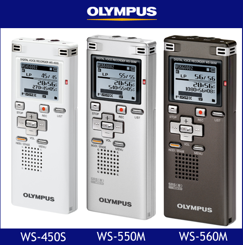 New WS-450S WS-550M WS-560M digital voice recorders from Olympus Australia