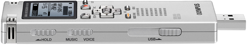 Olympus WS Series recorders with unique retractable USB slide connector