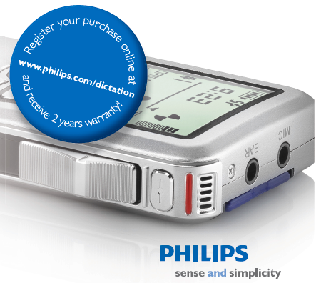 Philips Dictation Australia - Free Upgrade To 2 Years Warranty