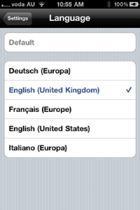Nuance Dragon Dictation App for iPhone iPad - US UK English Italian French German