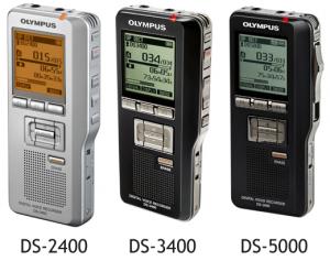 Olympus range of professional digital dictaphones - DS-2400 - DS-3400 - DS-5000 - DS-5000iD