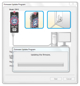Olympus DM3 / DM5 firware update on Windows - Step 4