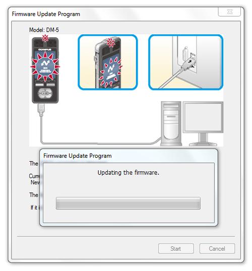 Olympus DM3 / DM5 firware update on Windows - Step 4