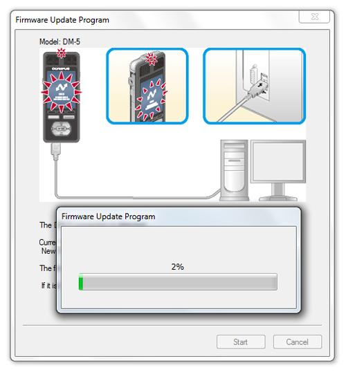 Olympus DM3 / DM5 firware update on Windows - Step 7