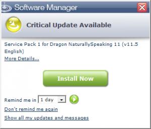 Dragon NaturallySpeaking 11.5 Upgrade Pop Up - Windows - Australia