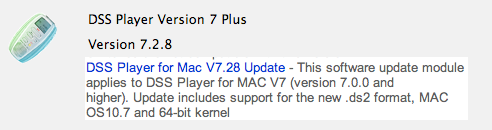 DSS Player Plus V7 for Mac - Lion Compatible