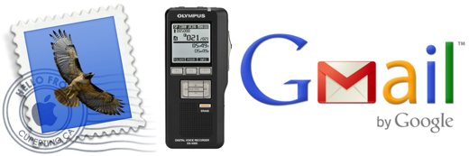 Email ds2 digital audio from Olympus dictaphone on Mac