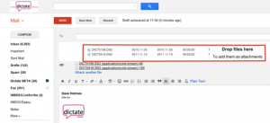 Email your Olympus dss ds2 Dictation On Mac Using Gmail or Google Mail for Business