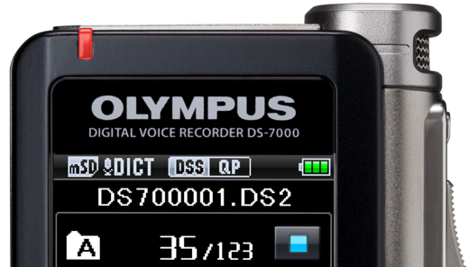 New Olympus DS 7000 digital dictaphone