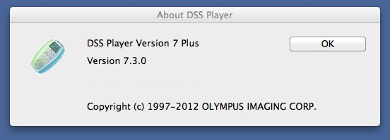 Olympus DSS Player Plus Upgrade Update to v7.3.0 Mac