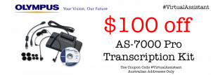 Olympus AS-7000 Transcription Kit Buy Online Special Offer