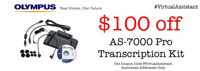 Olympus AS-7000 Transcription Kit Buy Online Special Offer