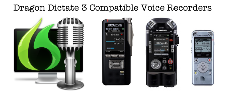 Digital Voice Recorders Dictaphones Compatible With Dragon Dictate 3 for Mac Transcription