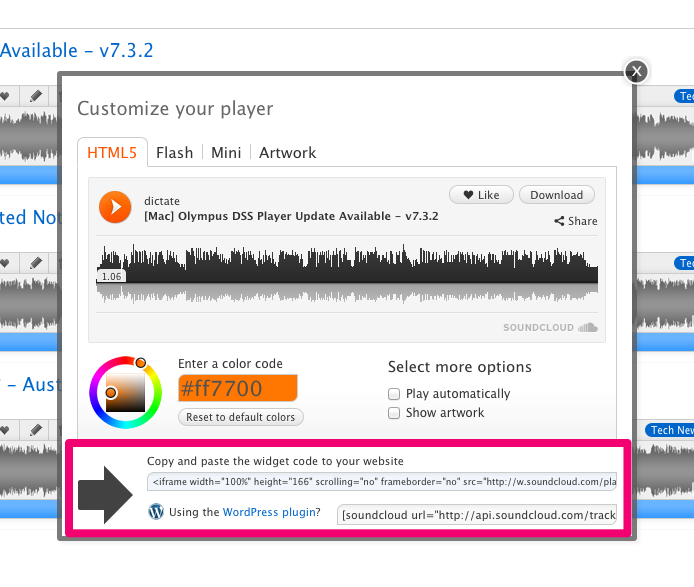 Using the SoundCloud HTML5 widget to bring your blog posts alive