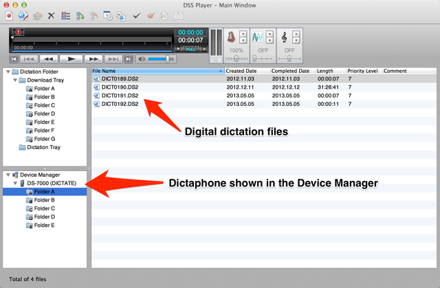 Olympus DSS Player Plus for Mac dictation transcription software