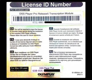 Olympus License Id Number Certificate