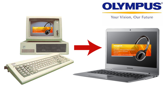 Upgrading your old to to new - move transfer olympus dictation transcription module key serial licence