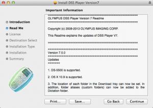 Olympus DSS Player Plus Mac Dictation Transcription OS X 10.9 Mavericks