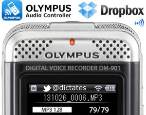 Olympus DM-901 WiFi Enabled Digital Voice Recorder