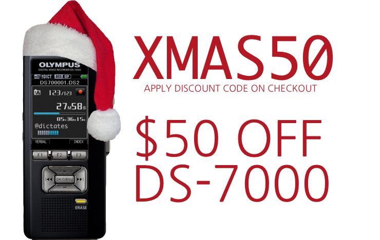 XMAS50 Discount Code - Olympus DS-7000 Australia