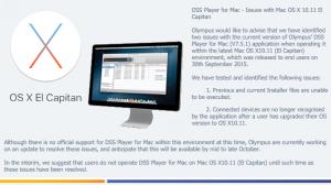 Olympus Mac OSX 10.11 El Capitan Transcription Pedal Issue Problem Not Working
