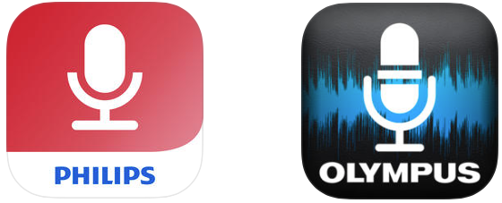Philips Dictation App vs Olympus Dictation App