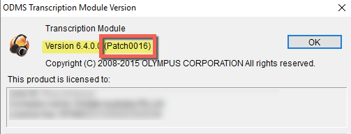 Olympus ODMS R6.4.0 Patch0016 Dictation Transcription Module