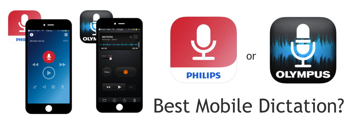 Best Mobile Dictation App - Phillips Speechlive vs Olympus ODDS
