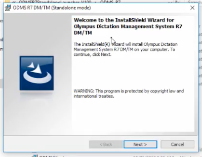 Olympus ODMS R7 Standalone Install Windows 10
