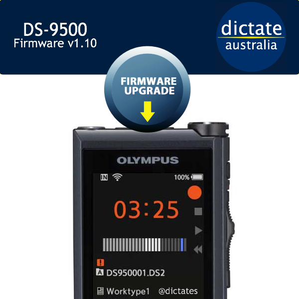 Download Olympus DS 9500 Firmware Update V110